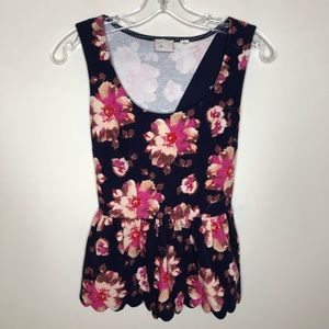 Postmark by Anthropologie Floral Tank X-Sml